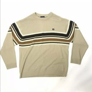 South Pole Tan Crew Neck Pullover Sweater Men